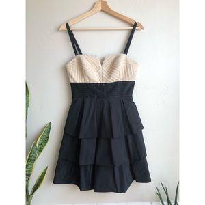 BCBGMaxazria Formal Short 3-Tier Ruffle Dress